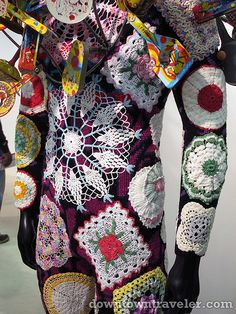 Crochet suit by artist Nick Cave at the Armory Show in NYC. Love it!