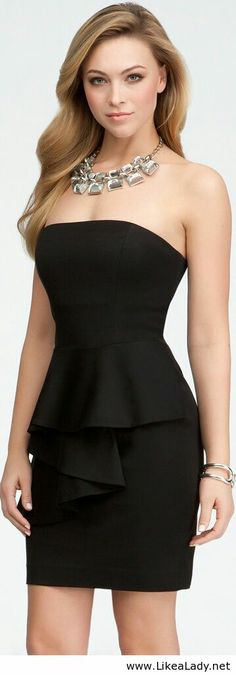 Simple black dress for girls