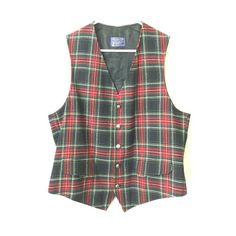 PLAID PENDLETON VEST Red plaid Pendleton vest. Has a few very small holes that are inconspicuous. Pendleton Other