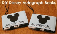 DIY Disney Autograph Books (could use blank hardcover books from teacher store)