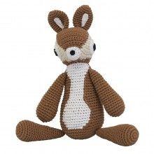 SEBRA Crochet Fawn --- Retro crochet fawn by Sebra. size: 26 cm height.