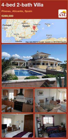 4-bed 2-bath Villa in Pinoso, Alicante, Spain ►€289,000 #PropertyForSaleInSpain