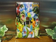 Pokemon Light Switch Wall Plate Cover 2  by SerendipityzBoutique