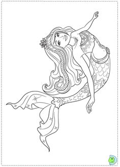 A Mermaid Tale barbie coloring pages for kids