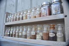 Items similar to Spice Rack Old Style - Aged White Stain - Sophisticated and Chic on Etsy