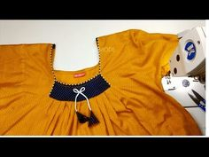 Nighty cutting and stitching malayalam/Pleated nighty malayalam DIY tutorial Blouse Tutorial, Diy Tutorial, Girl Fashion, Fashion Dresses, Fashion Design, Bun Hairstyles For Long Hair, Easy Stitch, Peasant Blouse, Stitch Design