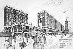 Kollektiv Graffunder Entwurf Rathauspassagen, 1967