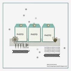 Scrapbook Page Layout Idea Album Scrapbook, Scrapbook Layout Sketches, Scrapbook Templates, Card Sketches, Scrapbooking Layouts, Digital Scrapbooking, Wedding Scrapbook, Map Sketch, Page Maps
