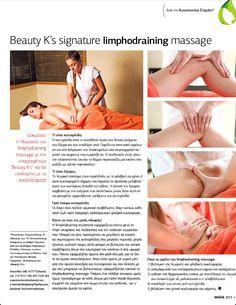 "Limphodraining massage at ""Beauty K's"" Beauty News, Life Magazine, New Life, Kos, Massage, Aries, Blackbird, Massage Therapy"