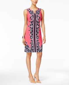 Jm Collection Floral-Print Sheath Dress, Only at Macy's
