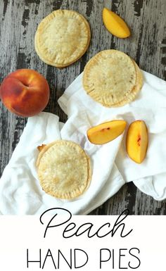 Delicious Peach Hand Pies made with freshly picked peaches and pre-made pie crust. Best Dessert Recipes, Fun Desserts, Delicious Desserts, Yummy Food, Premade Pie Crust, Apple Hand Pies, Pie Crust Recipes, Hand Pie Crust Recipe, Canned Peaches