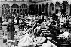 Dans le cadre des commémorations du Centenaire de la Première Guerre Mondiale, le Musée de la Médecine organise une exposition sur le thème « Les médecins de l'ULB en 14-18 ». © Archives Le Soir.