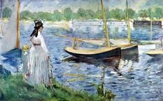 Edouard Manet Painting - The Banks of the Seine at Argenteuil Eduard Manet