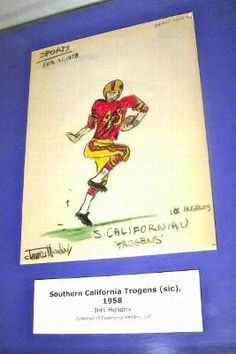14 - Jimi Hendrix Drawing of USC Football Player