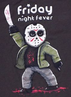 Friday The 13th Saturday Night Fever Mash Up Brown 2XL XXL T Shirt Voorhees  #BustedTees #GraphicTee