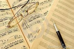 Old music score, manuscript and pen by Wai Chung Tang, via Dreamstime