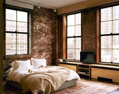 Impressive Bedrooms With Brick Walls | DigsDigs