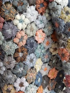 Sublime earthy shades of hand crocheted Merino wool. From Sophie Digard.      12 x 52 inches.