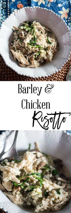 Barley and Chicken Risotto - An easy and filling recipe that will please all your family members.  This recipe is only 5 SmartPoints on Weight Watchers.  http://dashofherbs.com/barley-and-chicken-risotto/