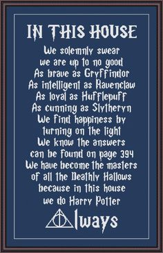 Funny Cross Stitch Pattern Do Harry Potter ALWAYS | Craftsy