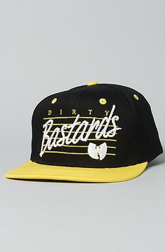 494131640f1 The Dirty Snapback Cap in Black  amp  Yellow OS Wutang