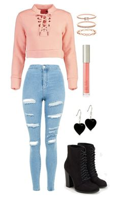"""Untitled #946"" by fivesoslol ❤ liked on Polyvore featuring Boohoo, Topshop, JustFab, Accessorize and Ilia"