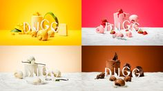Today we have a look at the brand identity of DUGG, a series of fresh yoghurt ice cream and sorbets from the Norwegian ice cream brand Hennig-Olsen. Originally launched as a healthier, low-fat option DUGG…