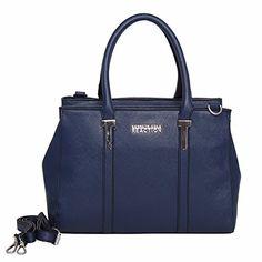 Kenneth Cole Reaction KN1860 Triple Entry Harriet Satchel Handbag (MARINA) - http://leather-handbags-shop.com/kenneth-cole-reaction-kn1860-triple-entry-harriet-satchel-handbag-marina/