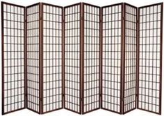 6ft - 8 panel shoji screen room divider available in more finishes