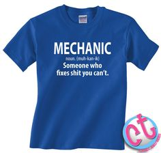 Funny Mechanic T-Shirt Gift for Boyfriend Husband by CasesandTees
