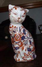 Porcelaine polychrome Imari Japon ancien chat 1900's très bel état