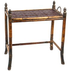 Anglo-Indian Bamboo Tray Table | From a unique collection of antique and modern tables at http://www.1stdibs.com/furniture/tables/tables/
