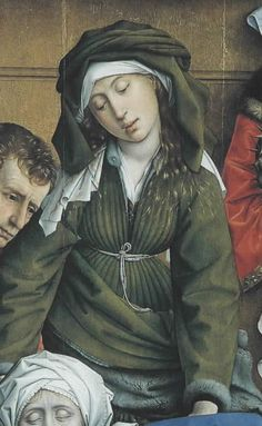Van Der Weyden, (Detail) Decent from the Cross. 1435, Museo de Prado, Spain.