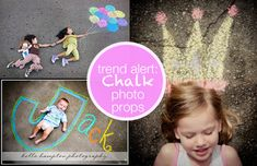 Jazzing Up Your Photos with Sidewalk Chalk - Modern Parents Messy Kids Like this.