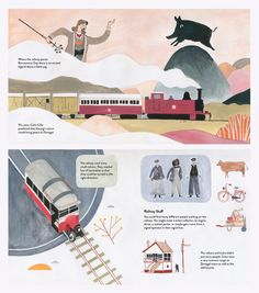 Book project by illustrator Pádhraic Mulholland - Donegal's history and railways - painted in gouache Northern Irish, Donegal, Book Projects, Gouache, Norway, Illustrator, History, Artwork, Books