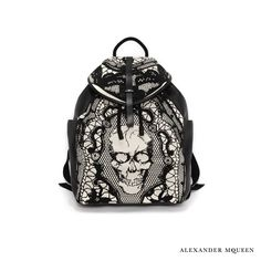 Skull lace print back-pack Bijoux Tête De Mort, Mode Britannique,  Portefeuille, 2400978c2c8