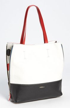 Furla Amazzone Polka Dot Shopper Tote. Nordstrom's - Made in Italy.  LOve this fun bag!