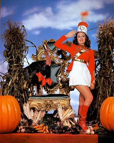 Thanksgiving with Donna Reed Vintage Thanksgiving, Vintage Fall, Vintage Holiday, Vintage Halloween, Happy Thanksgiving, Golden Age Of Hollywood, Vintage Hollywood, Hollywood Stars, Classic Hollywood