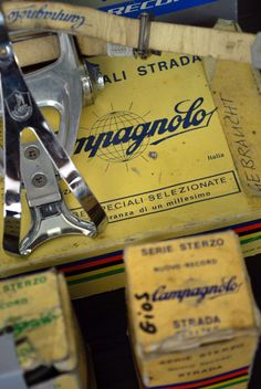 Campagnolo - my first good bike had these pedals on it  ❤️