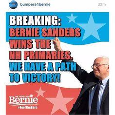 Thank you NH ❤️ #BernieSanders2016 #FeelTheBern #feelthebern2016 #berniesandersforpresident2016 #NoMoreOligarchy #Democrat #education #StandUpPeople #vote4bernie #vote4berniesanders #bythepeople #forthepeople #VeteransForBernie #ThePeopleForBernie #AmericaLovesBernieSanders #minimumwage #healthcare #unions #grassroots #RacialJustice #registertovote #womenforbernie #bernieorbust #newhampshire