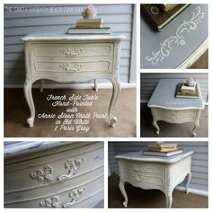 Gorgeous Hand-Painted French Side Table on Etsy, $240.00
