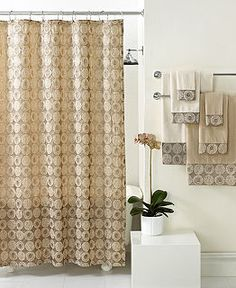 focus electrics hklss brown shower curtain rbh14hh06-   new
