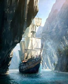 Creed IV Black Flag Concept Art by Raphael Lacoste Concept Art World Assassins Creed IV Black Flag Concept Art by Raphael LacosteConcept Art World Assassins Creed IV Black Flag Concept Art by Raphael Lacoste Assassin's Creed Black, Assassins Creed Black Flag, Fantasy Landscape, Fantasy Art, Final Fantasy, Pirate Art, Pirate Ships, Pirate Crafts, Old Sailing Ships
