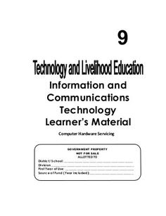 K-12 Module in TLE - ICT Grade 9 [All Gradings] Education Information, Information And Communications Technology, Movie Subtitles, Writing Paper, Printable Paper, Presentation, Trousers, Pdf, Classroom