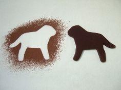 Mocha Cookies, made using Ann Clark Lab Dog cookie cutter