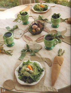 Idée de décoration pour les fêtes de Pâques.