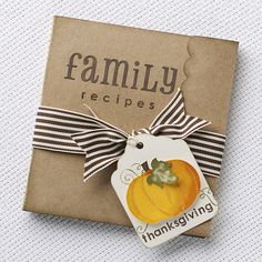 A link to festive Thanksgiving papercrafting ideas from #CTMH!