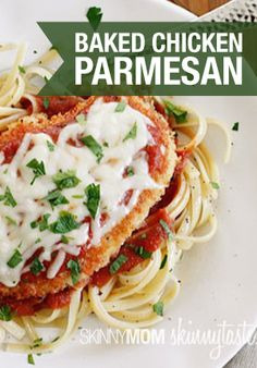 You won't miss the calories! This Chicken Parm from @skinnytaste is amazing!