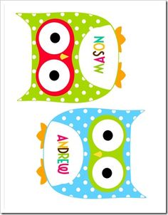 Classroom labels. I want to use these in the kids' owl themed bathroom too.
