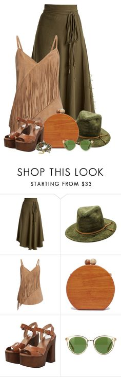 """""""""""WOOD"""" - Bag & Shoes"""" by oribeauty-cosmeticos ❤ liked on Polyvore featuring Apiece Apart, Gestuz, Inge Christopher, Jagga, Oliver Peoples and Dee Berkley"""